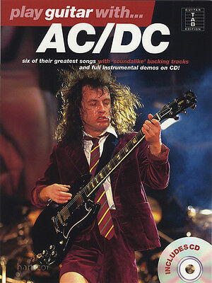 Play Guitar With AC/DC TAB Music Book & Play-Along Backing Tracks CD Angus Young