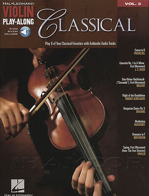 Classical Violin Play-Along Music Book with Audio Bach Mozart Brahms Beethoven