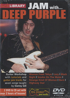 Jam with Deep Purple Learn to Play Guitar Tuition Lick Library DVD By Danny Gill
