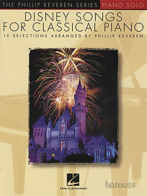 Disney Songs for Classical Piano Sheet Music Book