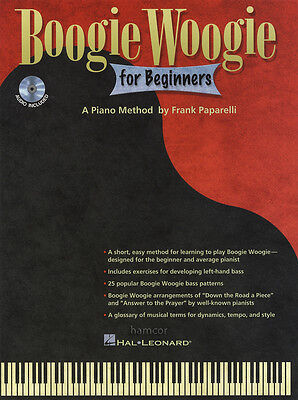 Boogie Woogie for Beginners Sheet Music Book/CD Piano Method Learn How To Play