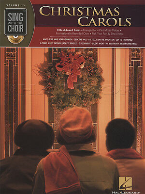 Sing with the Choir Christmas Carols Vocal Sheet Music Book with CD Voice Silent