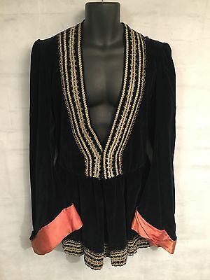 Extremely Rare Theatrical Black Velvet Othello Tunic 17th Century from Milan