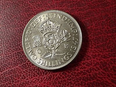 George V1  Florin Two Shillings 1947