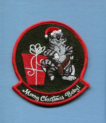 GRUMMAN F-14 TOMCAT MERRY CHRISTMAS BABY US Navy Fighter Squadron Jacket Patch