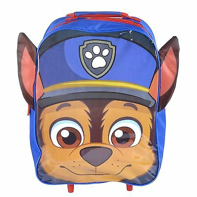 Paw Patrol Chase Wheeled Trolley Bag With Dog Ears Luggage