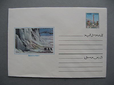 AFGHANISTAN, ill. prestamped cover, mint, Band-e Amir Nat. Park, mineral