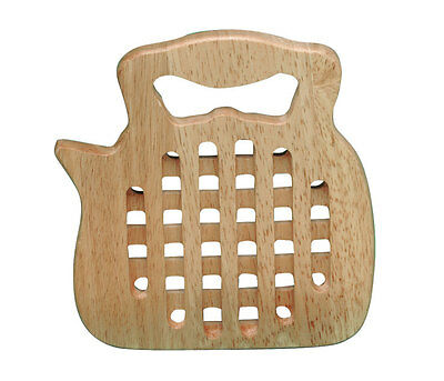 "Wooden Kitchen Kettle Trivet - 9"" Wood Trivit Pot Holder Stand Worktop Protector"