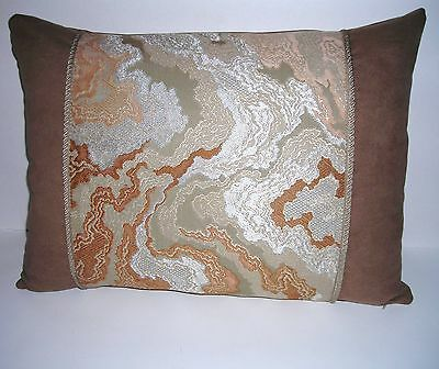"""Beautiful PILLOW w/ANTIQUE JAPANESE OBI feather & down insert 19"""" x 14"""""""