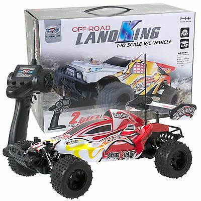 Remote Radio Control LandKing 1:10 Off-Road Speed Racing Buggy RC Car 27MHz RED