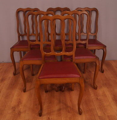 1209 !! Superb Set Of 6 Chairs In Louis Xv Style  !!
