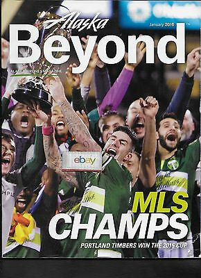 Alaska Airlines 1/2016 Inflight Magazine Portland Timbers Soccer 2015 Cup Issue