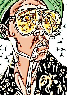 Fear And Loathing Classic Cult Fim Movie Fractal Lightart Print Poster Yf5185