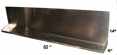"Draft Beer Tower Wall Mt Drip Tray 60""  Long # DTWM60SS - Up to 20 faucet holes"