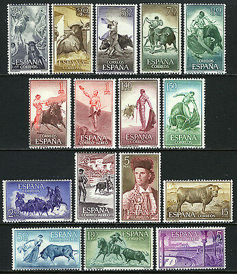 Spain 909-920,C159-C162, MNH. Bulls and Bullfighter, 19th cent. 1960