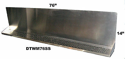 "Draft Beer Tower Wall Mt Drip Tray 76""  Long # DTWM76SS - Up to 25 faucet holes"