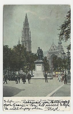 Postcard, 2218, Belgium, Anvers - Place Verte. Posted in UK 1906