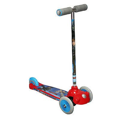 How To Train Your Dragon 3 Wheel Kids Trail Twist Push Scooter Outdoor Fun New