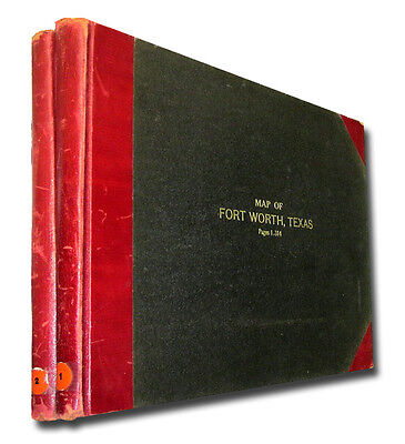Set of two City of Fort Worth, Texas Plat Books, 1949   W011