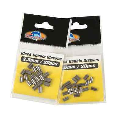 Tsunami Black Brass Single or Double Sleeves Crimps - All Sizes