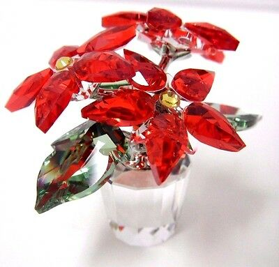 Poinsettia Holiday Christmas Plant Crystal  Swarovski #905209