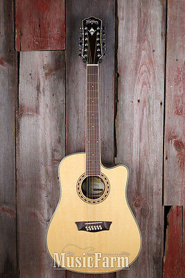 Washburn WD10SCE12 12 String Dreadnought Acoustic Electric Guitar with Fishman