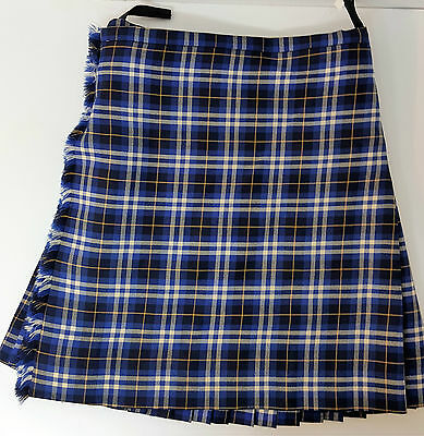 "Ex Hire 28"" waist 25"" drop Kilmarnock Killie FC 5 Yard Wool Kilt B condition"