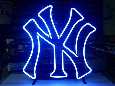 New New York Yankees Mlb Baseball Real Glass Neon Light Beer Bar Sign From Usa