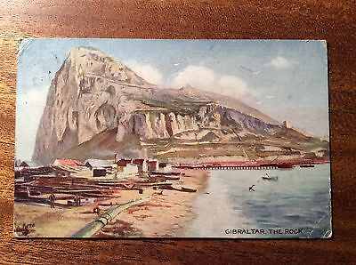 Vintage Postcard: Gibraltar The Rock, posted on board Orient Liner Osterley 1922