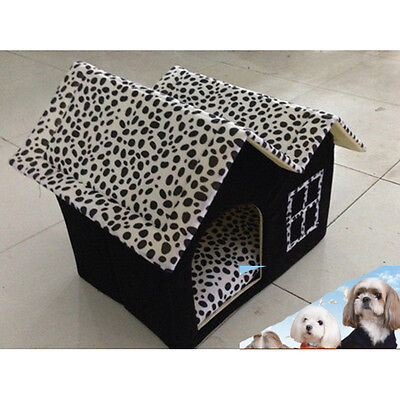 UK Winter Warm Portable Luxury Pet Dog Cat Bed House Kennels Dog Soft Mat Bed