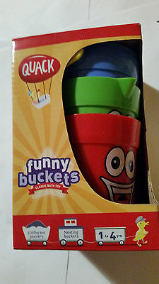Quack Funny Buckets Classis Bath Toy Leaky Bucket Make Rain And More!