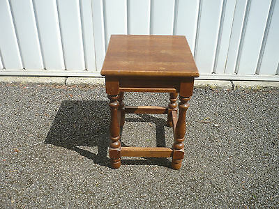 Stunning Antique solid oak footstool turned legs real quality