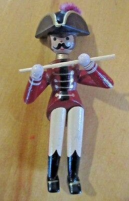 """Wooden Soldier with Flute Christmas Ornament 5"""""""