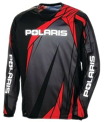 OEM Polaris RZR Lighweight Breathable Mesh Red Off Road Riding Jersey