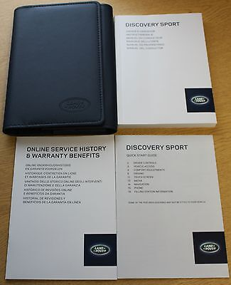 Land Rover Discovery Sport Handbook Owners Manual+Nav Wallet Pack 890