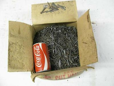 """43 LBS of New 1-1/2"""" 4D Cut Square Masonry Nails Antique Vintage Crafts Art"""