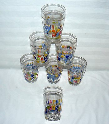Set Of 7 Hanukkah Chanukah Sparkle Shake Holiday Party Cups Menora 2010 Childs