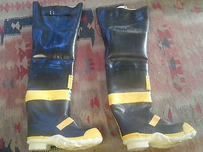 Vintage Ranger Co. Fire Master Fire Fighter Size 8 Chicago Style Fireman Boots