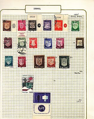 ISRAEL  on album page stamps removed for shipping(j)