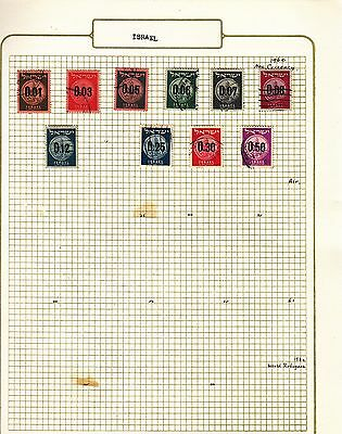 ISRAEL  on album page stamps removed for shipping(m)