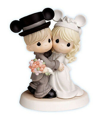 New PRECIOUS MOMENTS Disney MICKEY WEDDING Figurine Statue CAKE TOPPER Couple