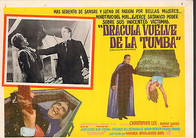 DRACULA HAS RISEN FROM THE GRAVE Mexican Lobby Card Film/Movie Poster