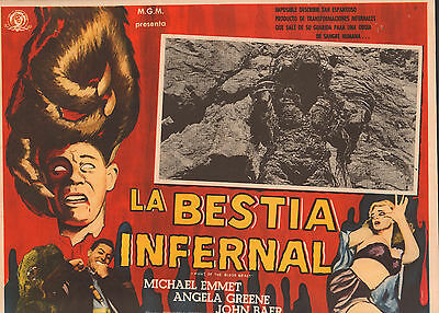 NIGHT OF THE BLOOD BEAST Mexican Lobby Card Film/Movie Poster BESTIA INFERNAL