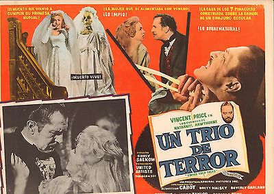 TWICE TOLD TALES Mexican Lobby Card Film/Movie Poster VINCENT PRICE /HAWTHORNE