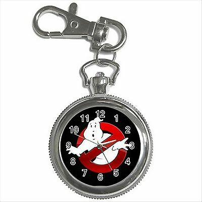 NEW* HOT GHOSTBUSTERS Silver Color Tone Key Chain Ring Watch Gift
