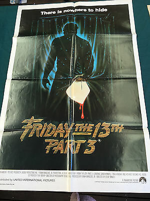 FRIDAY THE 13TH PART 3 Original Australian One Sheet Movie Poster 1982