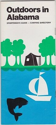 1970's Outdoors In Alabama  Promotional Brochure