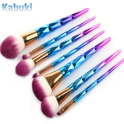 10PCS Kabuki Professional Make up Brush Set Foundation Blusher Face Powder Brush