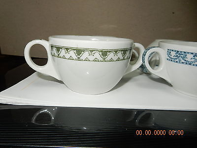 4 SHENANGO CHINA 2 Two Handeld Cups LYNDE SANGER & CO. BOSTON