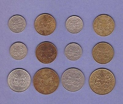 Kenya - (1966-1975) Coin Collection Lot - World/Foreign/Africa